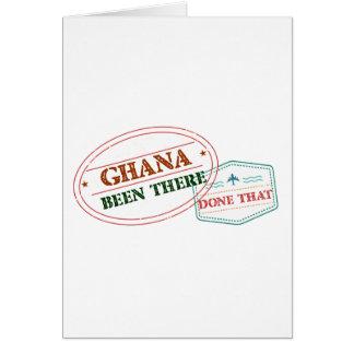 Cartão Ghana feito lá isso