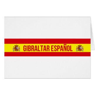 Cartão Gibraltar Español - espanhol Gibraltar