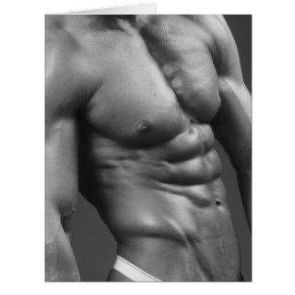 Cartão gigante - Bodybuilder masculino rasgado