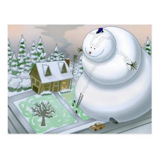 Cartão gigante do boneco de neve