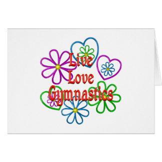 Cartão Ginástica viva do amor