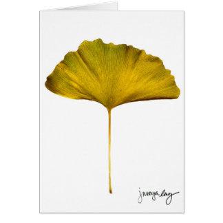 """Cartão """"Gingko"""" por J. Maya Luz"""
