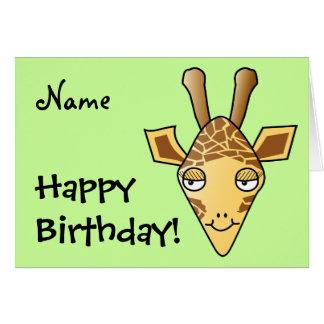 Cartão Girafa