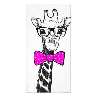 Cartão Girafa do hipster