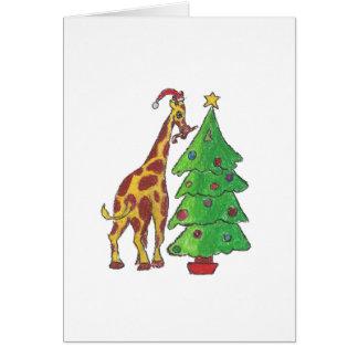 Cartão Girafa do Natal