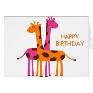 Cartão Girafa dos desenhos animados
