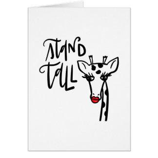 Cartão Girafa - suporte alto