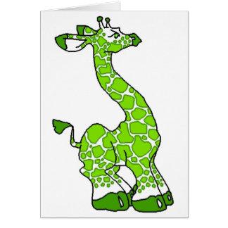 Cartão Girafa verde