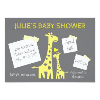 Cartão Giraffe baby shower invitation