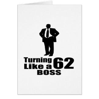 Cartão Girando 62 como um chefe
