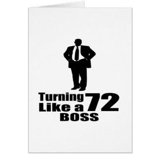 Cartão Girando 72 como um chefe