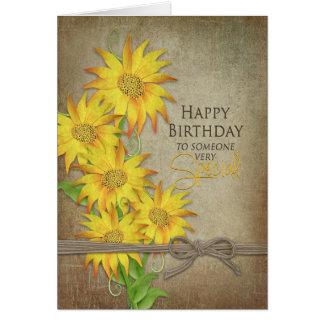 Cartão Girassóis - aniversário - alguém especial