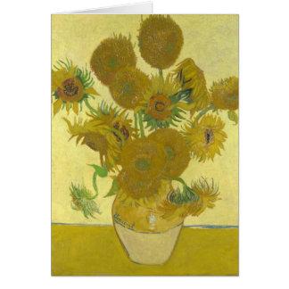 Cartão Girassóis por Vincent van Gogh