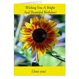 Cartão Girassol brilhante - fotografia floral