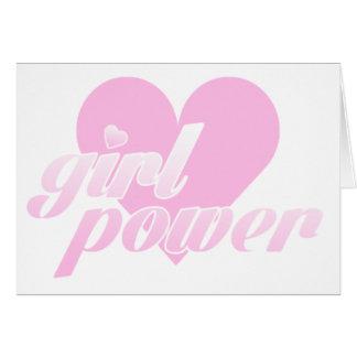 Cartão girl power