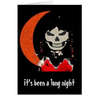 Cartão girlghoul, foi uma noite longa