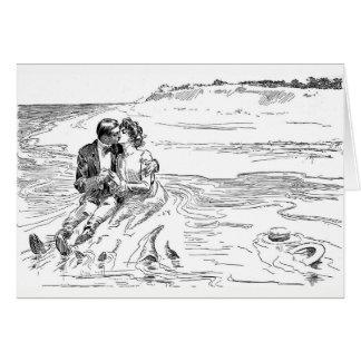 Cartão Giro da maré - casamento, casamento, romance