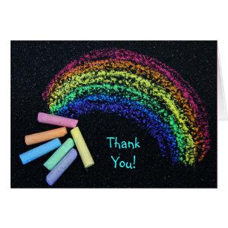Cartão Giz do arco-íris