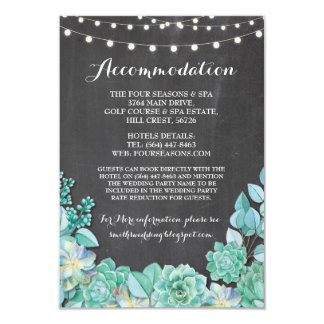 Cartão Giz do casamento da hortelã da acomodação dos