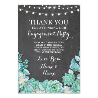 Cartão Giz do Succulent do casamento do noivado dos