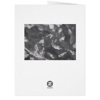 Cartão Giz e de tinta preta brancos