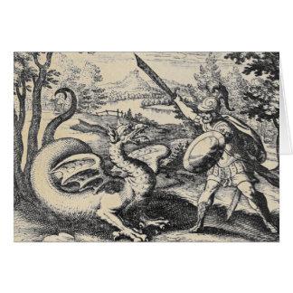 Cartão Gladiador do assassino do dragão