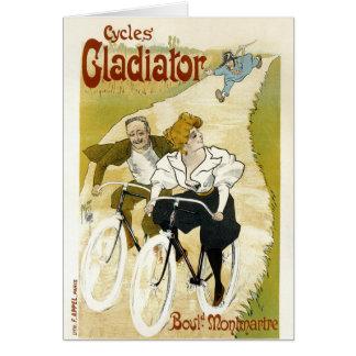 Cartão Gladiador dos ciclos - bicicletas do vintage