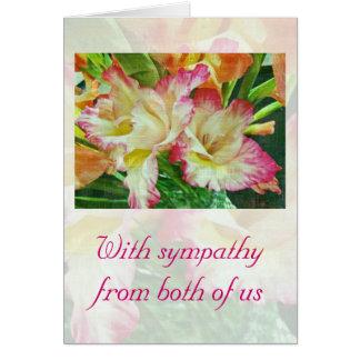 Cartão Gladiola Textured simpatia