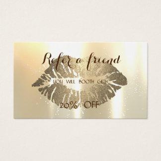 Cartão glamoroso à moda elegante da referência