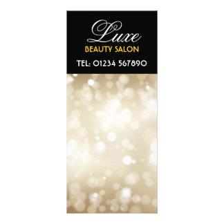 Cartão Glittery da cremalheira do design do ouro Panfleto Informativo Personalizado