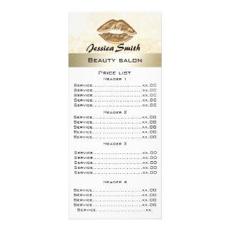 Cartão glittery do menu dos lábios luxuosos 10.16 x 22.86cm panfleto