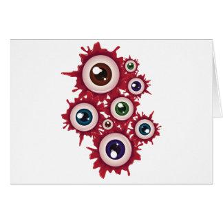 Cartão Globo ocular sangrento 5 do Dia das Bruxas