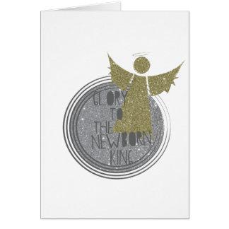 Cartão Glória ao rei recém-nascido