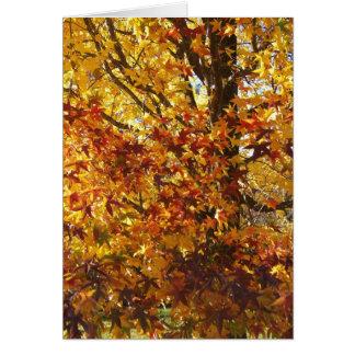 Cartão Glória do outono do deus