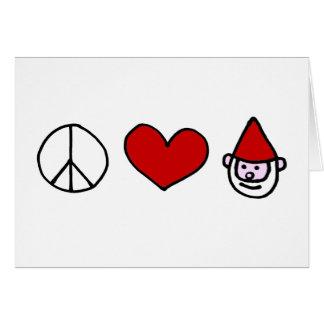 Cartão Gnomo do amor da paz