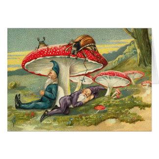 Cartão Gnomos mágicos em repouso