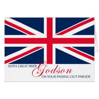 Cartão Godson que passa para fora parabéns Union Jack