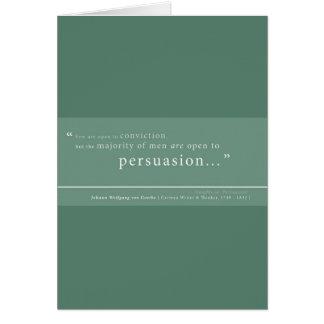 Cartão Goethe 'em Persuasion