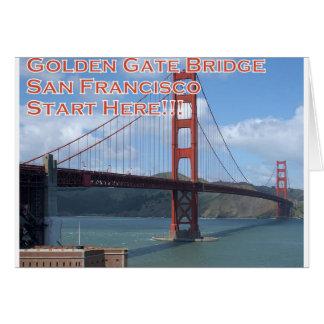 Cartão Golden gate bridge San Francisco Califórnia EUA