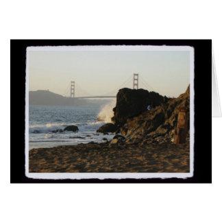 Cartão Golden Gate da praia de China