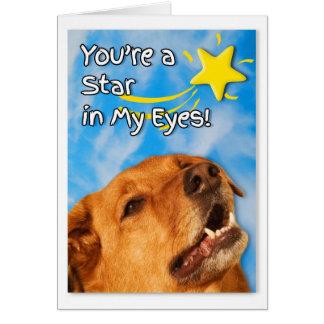 Cartão Golden retriever veterinário dos parabéns | da