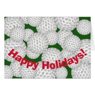 Cartão Golfe boas festas