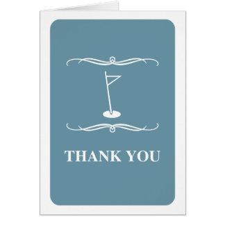 Cartão golfe da modificação: obrigado