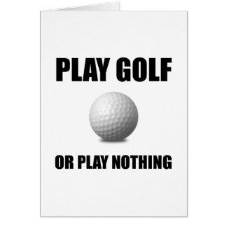 Cartão Golfe ou nada do jogo
