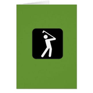 Cartão Golfing cómico