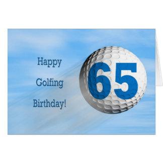 cartão golfing do 65th aniversário