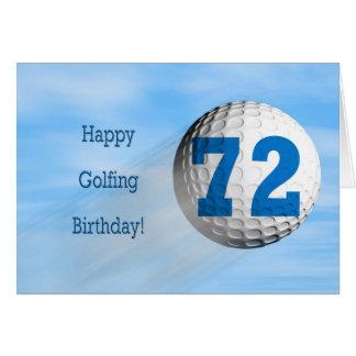 cartão golfing do 72nd aniversário