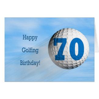 cartão golfing do aniversário do 70