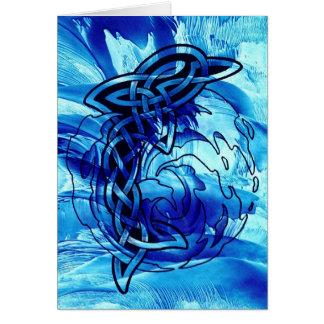 Cartão Golfinho celta