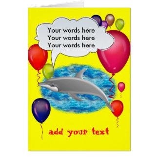 Cartão Golfinho do aniversário